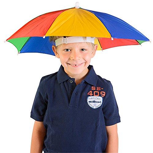 Umbrella Hat Rainbow Novelty Funny