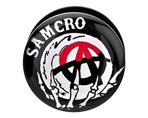 Sons of Anarchy Samcro Acrylic Screw Fit Plugs