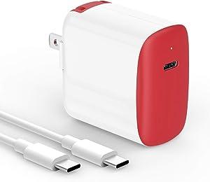 18W USB C Fast Charger for 2020/2018 iPad Pro 12.9 Gen 4/3, iPad Pro 11 Gen 2/1, New iPad Air 4, Google Pixel 5 4 3 2 XL 3A 4A 4XL 3XL 2XL, Galaxy, LG, Foldable, LED, 6.6ft USB C to C Charging Cord