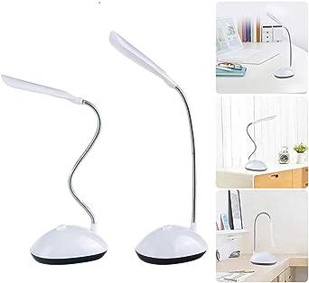 Lámpara de mesa giratoria de 360 grados, funciona con pilas, luz de noche, protección para los ojos, lectura, libros, luces para niños: Amazon.es: Iluminación