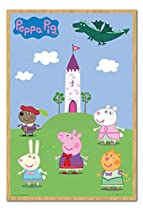 Peppa Pig Fairytale Castle Poster Magnetic Notice Board Beech Framed - 96.5 x 66 cms (Approx 38 x 26 inches)
