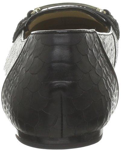 Geox - Mocasines de cuero para mujer Negro (Noir (C9999))