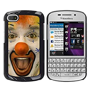 - Clown Evil Joker - - Monedero pared Design Premium cuero del tirš®n magnšŠtico delgado del caso de la cubierta pata de ca FOR BlackBerry Q10 Funny House