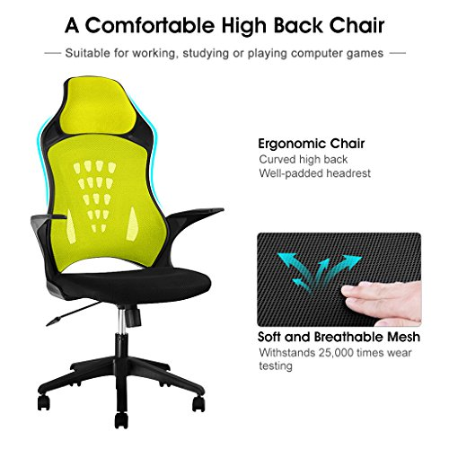 back mesh executive office gaming chair ergonomic design adjustable