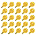 Sival 40129 - G40 Candelabra Screw Base Transparent Yellow (25 pack) Christmas Light Bulbs