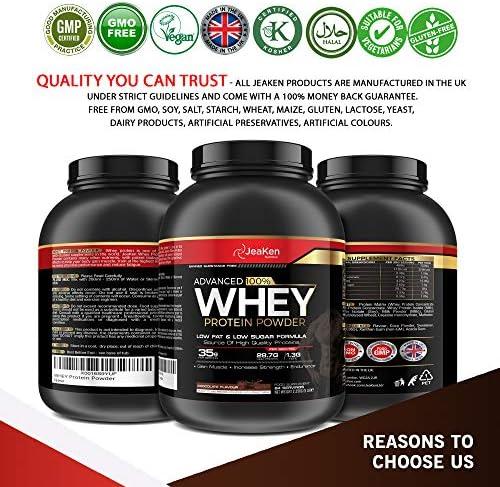 JeaKen - PROTEINA WHEY ISOLATE- Proteinas para Aumentar Masa Muscular y Proteinas para Adelgazar- Pre-entrenamiento, Recuperación y Mantenimiento ...