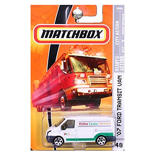 Matchbox 2008 MBX City Action 2007 Ford Transit VAN Visitor Center Services White #48