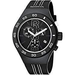 Reebok Icon Rush Chrono Men's Sport Watch Black and White RC-IRU-G6-PBIB-BW