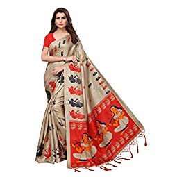 Khadi Silk Saree with Blouse Piece for women