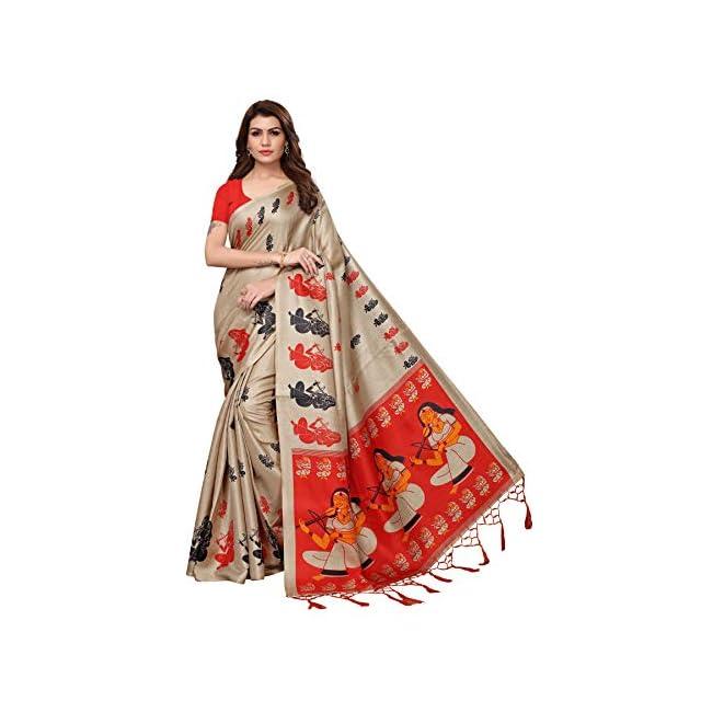Khadi Silk Saree with Blouse Piece for women