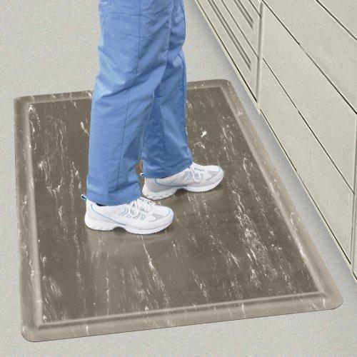 Wearwell 420.12x2x3AMBL Tile-Top Spongecote Mat, 24'' x 36'' Size, Blue