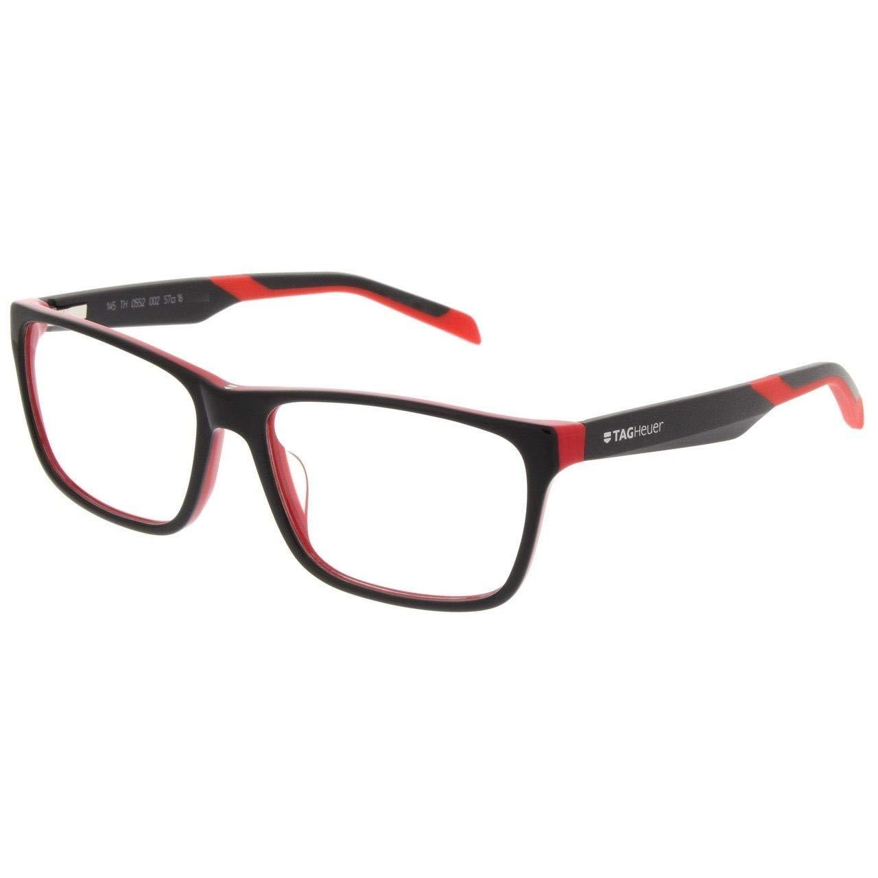 Tag Heuer 0552 Eyeglasses 002ブラック/レッド57 mm   B01A7PEM88