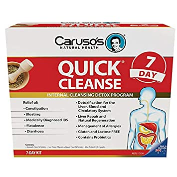 Amazon Carusos Natural Health Quick Cleanse 7 Day Detox Program