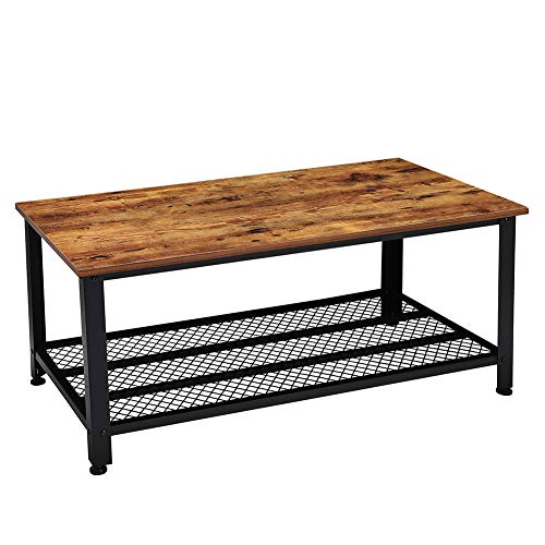 Amazon.com: Vintage Coffee Table, Rectangle Living Room ...
