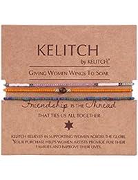 3pcs Lucky Beaded Friendship Bracelet Handmade Bangle Girls/Kid gift