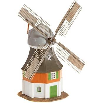 Model Power HO Scale Building Kit Motorized Windmill