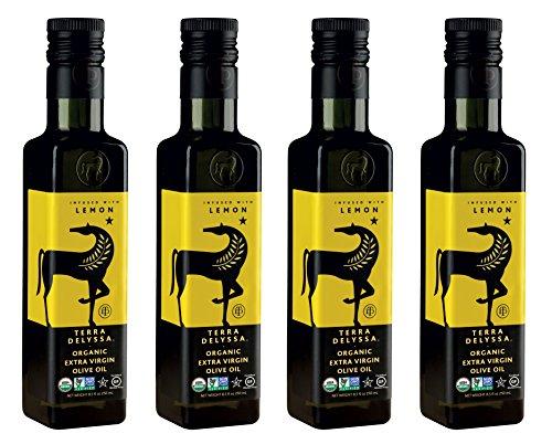 Olive Lemon Oil Organic - TERRA DELYSSA ORGANIC EXTRA VIRGIN OLIVE OIL - LEMON 8.5oz x 4