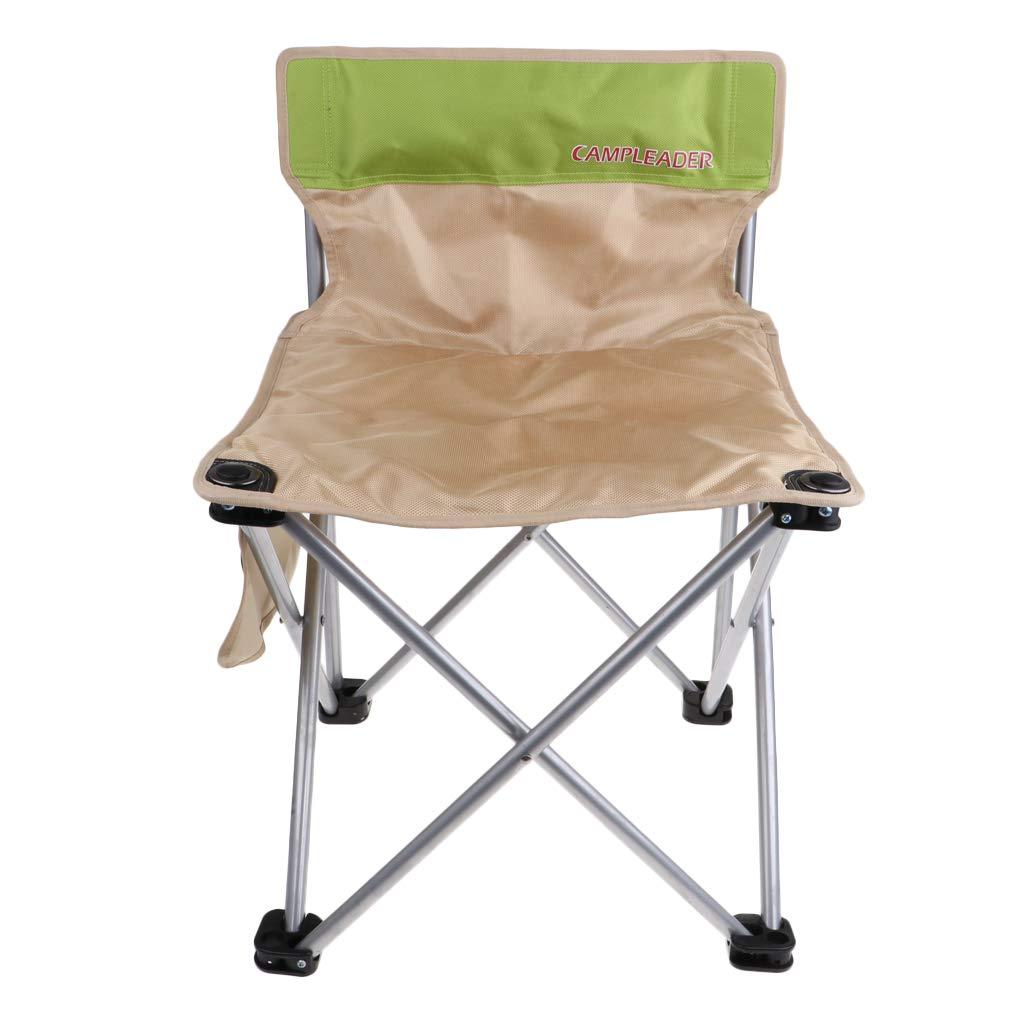 Baosity 折りたたみ式 キャンプ クワッドチェア 軽量 ポータブル ピクニック フィッシングシート 41cm カーキ B07JW982XN