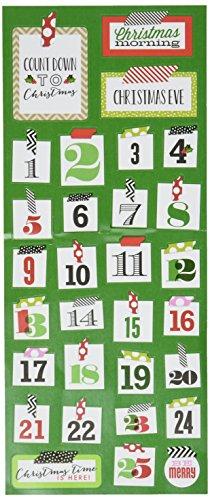 me & my BIG ideas Mambi Sticks Stickers, Washi Christmas Numbers -