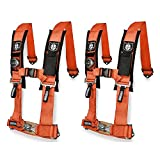 Pro Armor A114230OR Orange 4-Point Harness 3' Straps, 2 Pack