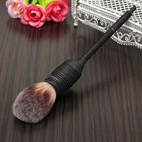 CoCocina Powder Nature Goat Hair Blush Brush Blusher Handmade Rattan Cosmetic Tool - Mixture ()