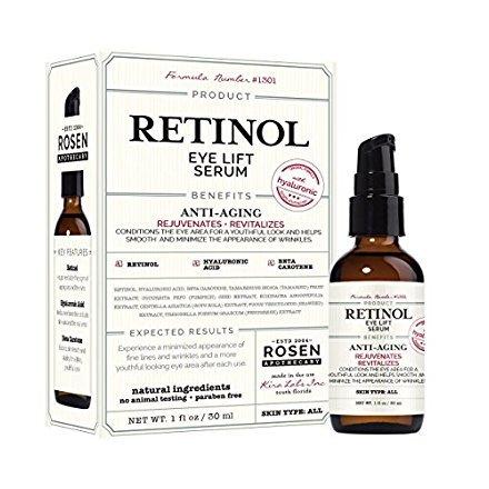 (Rosen Apothecary Retinol: Eye Lift Serum with Hyaluronic 1oz / 30ml)