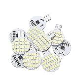 Grv T10 LED Light Bulb 921 194 192 C921 24-2835 SMD Super Bright Lamp DC 12V 2.5 Watt For Car RV Boat Ceiling Dome Interior Lights Cool White (2nd Generation) Pack of 10