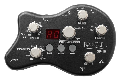 Rocktile GP-10 Gitarren Multieffekt Gerät/Kopfhörer-Verstärker Amp