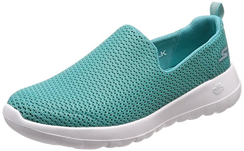 Skechers Womens 15600 Go Walk Joy Low Top Slip On Walking, Turquoise, Size 13.0]()