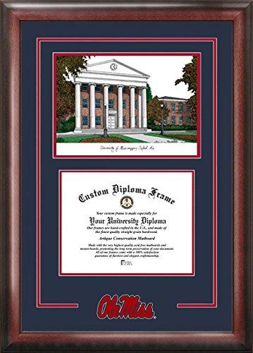 Campus Images Mississippi Rebeldes Espíritu Graduate Diploma Marco ...