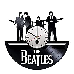 BorschToday Beatles Handmade Vinyl Record Wall Clock - Get Unique Living Room Garage Wall Decor - Gift Ideas Friends – Rock Band Unique Modern Art