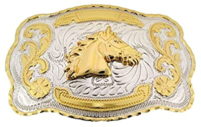 Letter Love Fashion Horse Head Western Cowboy Rodeo Gold Large Belt Buckle Men Women Cowgirl Texans