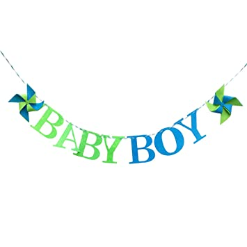 amazon com bestoyard baby boy banner fabric windmill garland