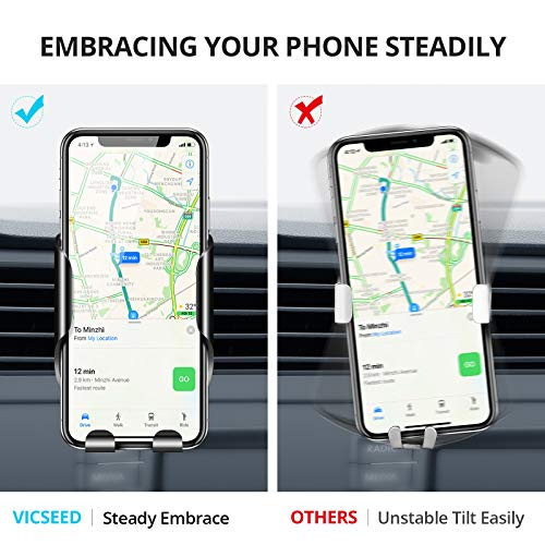 VICSEED Car Phone Mount, Air Vent Phone Holder for Car, Handsfree Cell Phone Car Mount Fit for iPhone 12 Pro Max Mini SE 11 Pro Max XR Xs Max Xs X 8 7