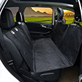 Airsspu Dog Seat Cover - Waterproof Scratch Proof Nonslip Pets Seat Covers Liner, Adjustable Pet Car Seats Safety Belts, Durable Cats Hammock Bench Protector for Cars, SUV