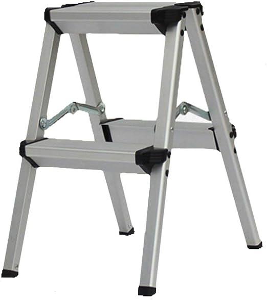 SZ JIAOJIAO Pesado de Acero Plegable portátil Amplio Paso Escalera/Taburete Antideslizante de la Escalera del hogar Paso Taburete Peso 150kg,2steps: Amazon.es: Hogar