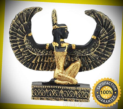 KARPP Egyptian Goddess of Justice Maat with Open Wings Dollhouse Miniature Statue Perfect Indoor Collectible Figurines ()