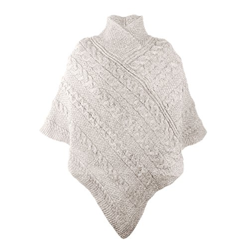 100-Irish-Merino-Ladies-Aran-Knit-Poncho-by-West-End-Knitwear