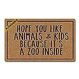 Artsbaba Doormat Personalized Your Text Door Mat Hope You Like Animals And Kids Doormats Monogram Non-Slip Doormat Non-woven Fabric Floor Mat Indoor Entrance Rug Decor Mat 30 x 18 Inches