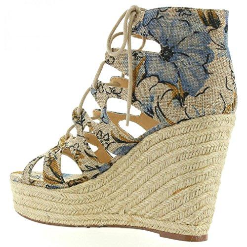 Sandalen für Damen MTNG 53665 C24996 CALIDO AZUL