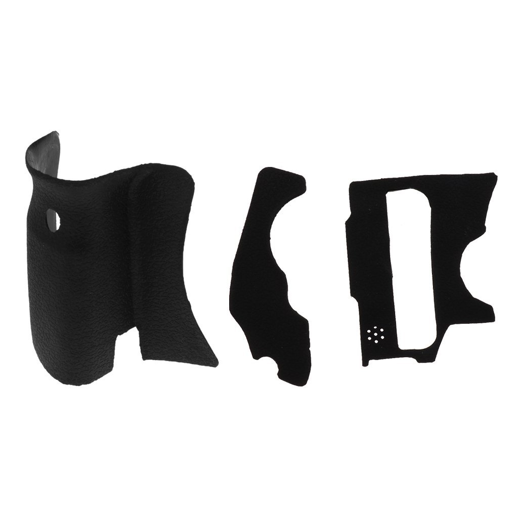 SM SunniMix Un Conjunto de 3 Piezas Grip Rubber Cover Unit para Canon 60D DSLR Camera W//Tape