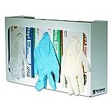 San Jamar G0804 White Enamel Disposable Glove Dispenser, Three-Box, 18w x 3 3/4d x 10h
