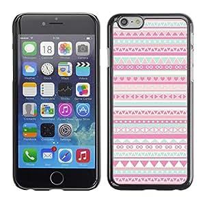 "For Apple Apple iPhone 6 / 6S (4.7 inches!!!) Plus / 6S Plus ( 5.5 ) Case , Patrón Native American Folk Rosa"" - Diseño Patrón Teléfono Caso Cubierta Case Bumper Duro Protección Case Cover Funda"