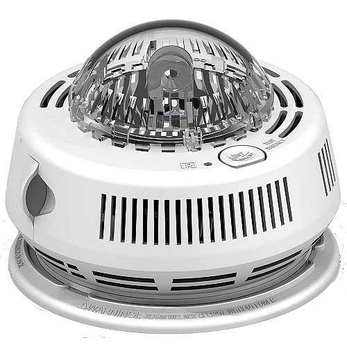 (BRK Electronics Hard Wired Smoke Alarm with Backup & Strobe)