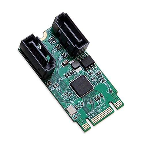 - I/O Crest M.2 B+M Key 22x42 PCIe Bus To 2 Ports SATA 6 G III Controller Adapter Card Chipset ASM1061