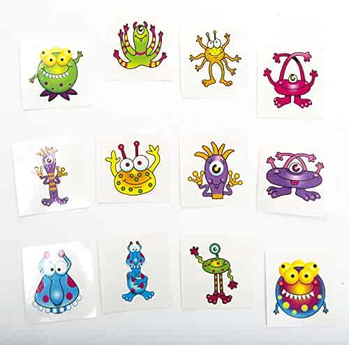 Monster Tattoos,72 tattoos per package