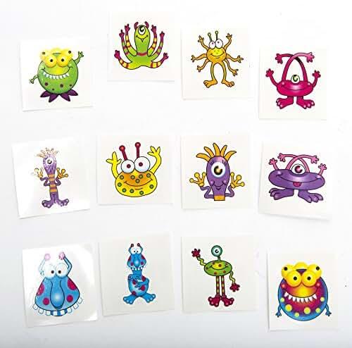 Monster Tattoos,72 tattoos per package