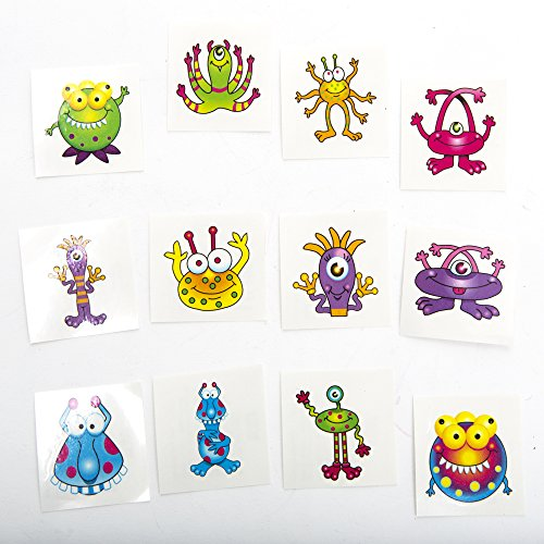 Monster Tattoos,72 tattoos per package ()