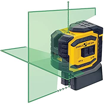 Stabila 03185 LAX300G Green Beam Cross Line Plus Plumb Dots Laser Level