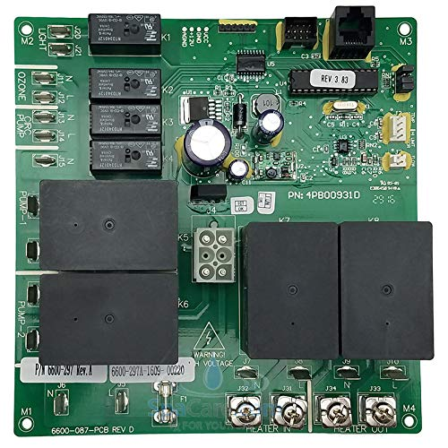Sundance Spas Printed Circuit Board: J-300 with Clearray On-Demand Function 2014+